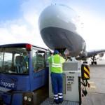 Abfertigung durch BVD ( Bodenverkehrsdienste ) A380 Lufthansa