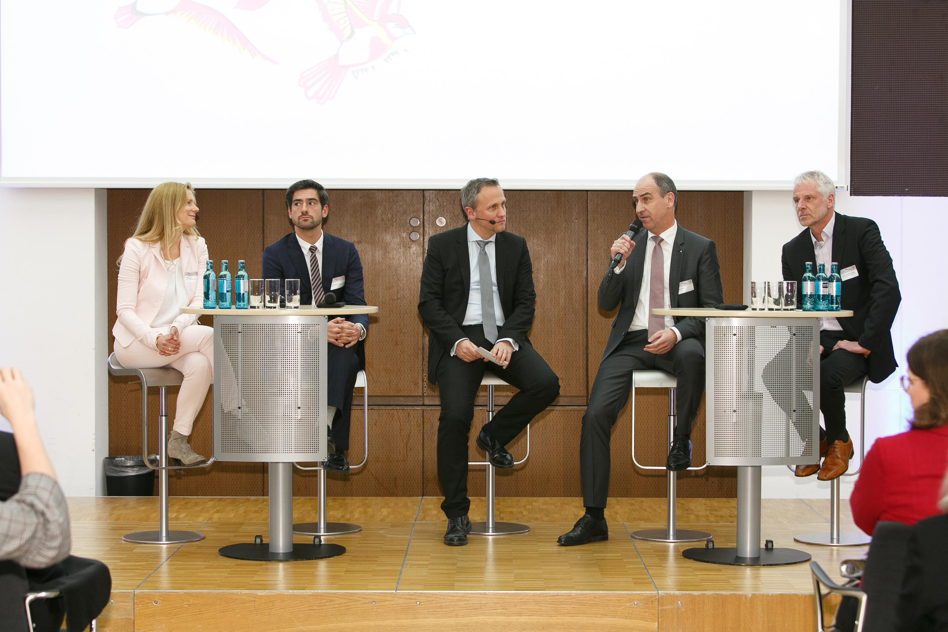 Talkrunde mit Annette Pascoe, Dr. Max Neufein, Sven Altheimer, Detlef Lamm, Prof. Dr. Andreas Klocke