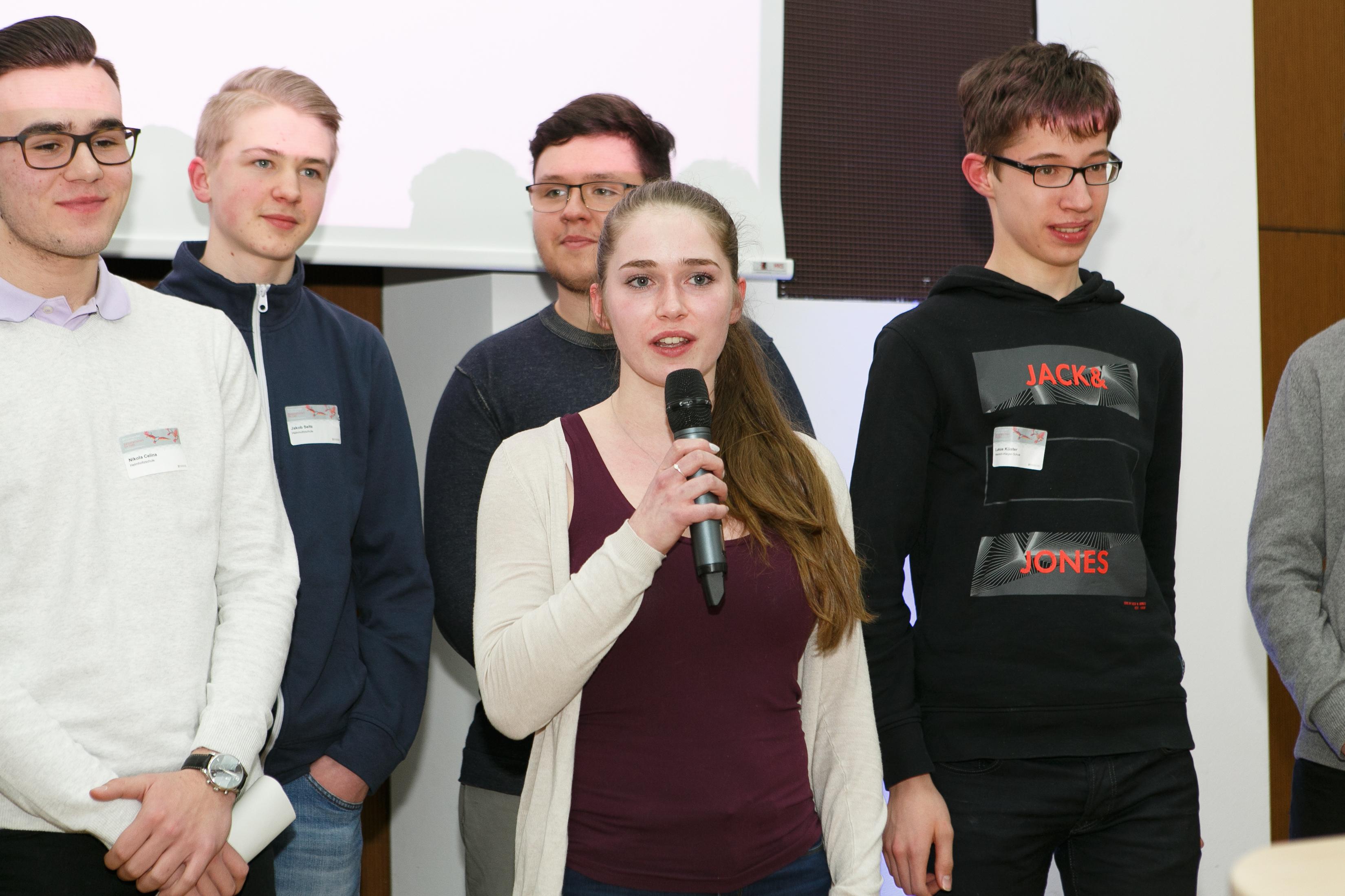 Goldfischcheck mit der Heinrich-Kleyer-Schule, Helm-Holz-Schule, Liebig-Schule, Schiller-Schule, Ernst-Reuter-Schule 1 und Georg-Kerschensteiner-Schule